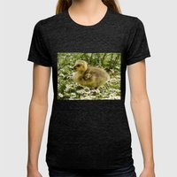 Fluffy Gosling Womens Fitted Tee Tri-Black SMALL