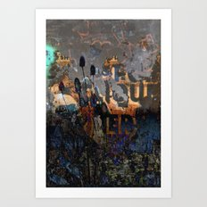TEASEL III Art Print