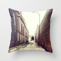 Diagonal Alley Throw Pillow