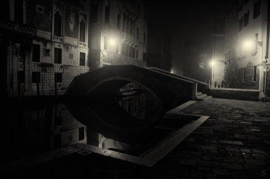 Venice by night Art Print