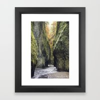 Fall in Oneota Gorge, OR Framed Art Print