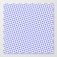 Canvas Print featuring PINK & BLUE DOT by Mr.DOT