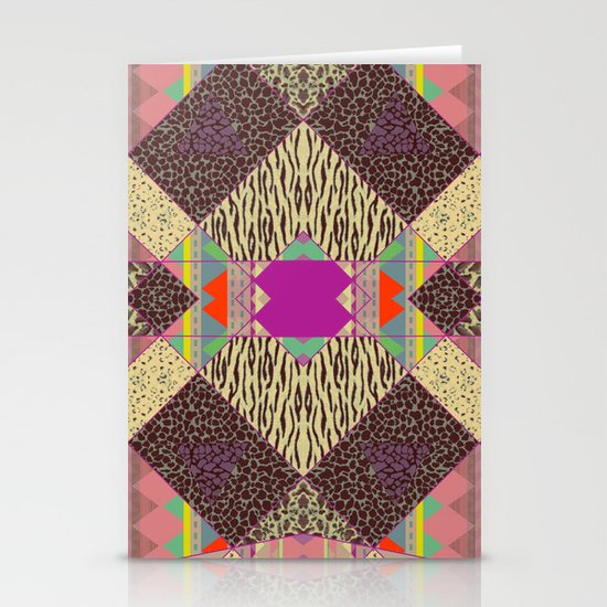 RETRO KALEIDOSKOPE   Stationery Card