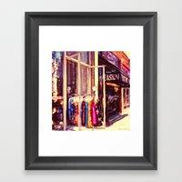 Melrose St, Los Angeles,… Framed Art Print