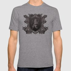 Vintage Heraldic Lion Co… Mens Fitted Tee Athletic Grey SMALL