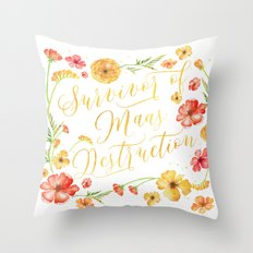 Maas Destruction Throw Pillow