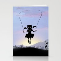 Cat Kid Stationery Cards