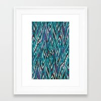 Ikat4 Framed Art Print