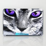 Purple Eyes Cat iPad Case