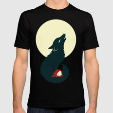 Little Red Riding Hood SMALL Mens Fitted Tee Black