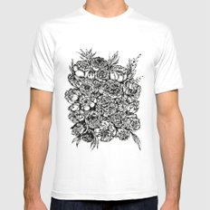 Wedding Flowers  SMALL Mens Fitted Tee White