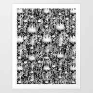 Victorian Gothic Lace Sk… Art Print