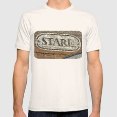 Here's Looking at You  Mens Fitted Tee Natural SMALL