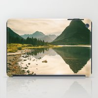 Mountain Reflecting the Lake in Many Glacier  iPad Case