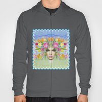 Woman Flowers Colors Hoody