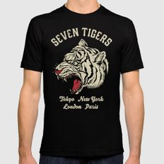 Seven Tigers Black SMALL Mens Fitted Tee