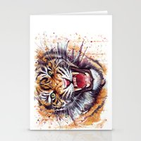 tiger Stationery Cards featuring Tiger by Olechka