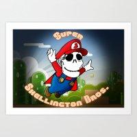 Super Skellington Bros. Art Print