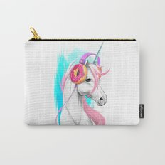 Unicorn in the headphones of donuts Carry-All Pouch