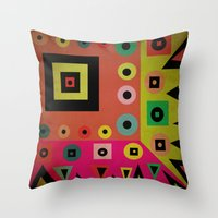Mixed Shapes Throw Pillow