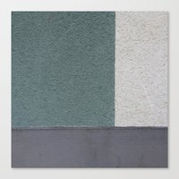 Green Stucko Canvas Print