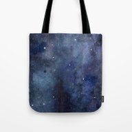 Night Sky Stars Galaxy |… Tote Bag