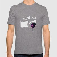 Through The Lens Mens Fitted Tee Tri-Grey SMALL