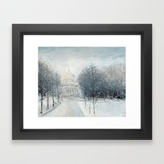 Capitol Christmas Framed Art Print