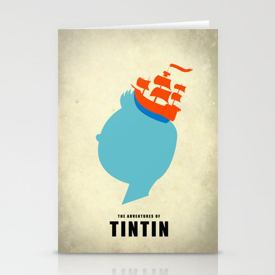 THE ADVENTURES OF TINTIN Stationery Card