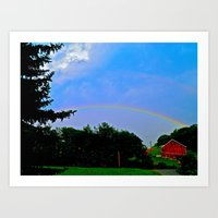 Some Farm Under the Rainbow Art Print