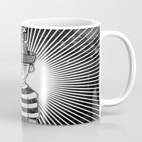 Fisher Man B/W Mug