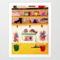 Galactic Souvenir Shelf Art Print