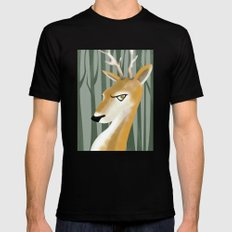 Deer Mens Fitted Tee SMALL Black