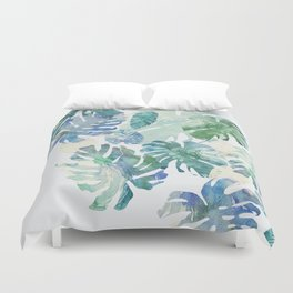 Duvet Cover - tropical cold leaves - franciscomffonseca