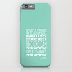 WAKE UP- Green Slim Case iPhone 6s