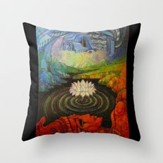 Earth-and-Sky Throw Pillow