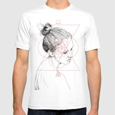 Face Facts II SMALL Mens Fitted Tee White
