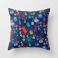 Robots Forever! Throw Pillow