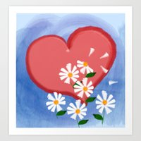 Loves me, loves me not Art Print