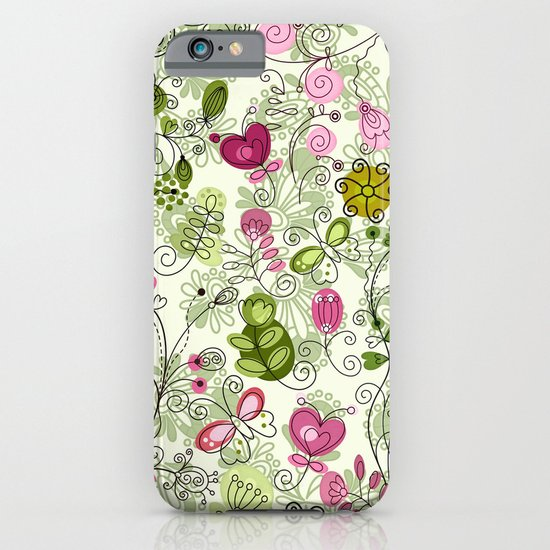doodle flowers iPhone & iPod Case
