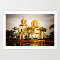 St. Stevens Serbian Orthodox Cathedral, Alhambra, CA Art Print