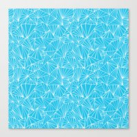 Ab Fan Electric Repeat Canvas Print