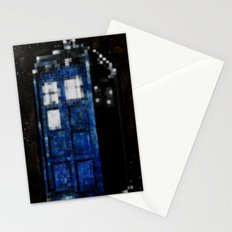 8 Bit Pixelated Tardis Doctor Who Stationery Cards