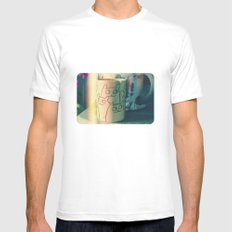 cats Mens Fitted Tee White SMALL