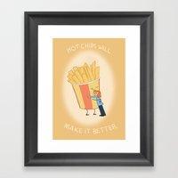Hot Chips! Framed Art Print