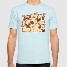 Puglie Grumblie Mens Fitted Tee Light Blue SMALL