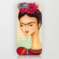 iPhone & iPod Case featuring Icons / Frida by Renia