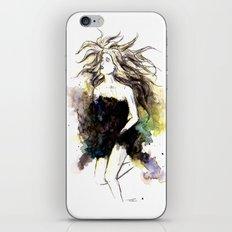 Watercolor Girl iPhone & iPod Skin