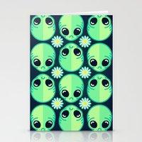 Sad Alien And Daisy Nine… Stationery Cards