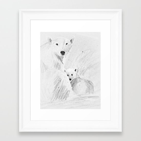 arctic bears Framed Art Print